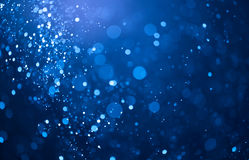 Blue bokeh lights background