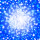 Blue bokeh lights background vector illustration Royalty Free Stock Photos
