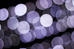 Blue bokeh of the lights Royalty Free Stock Photo