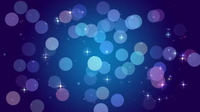 Blue bokeh lights, particles and starglow stock video footage