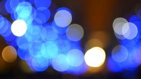 Blue bokeh lights stock video