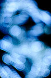 Blue bokeh moving background Stock Photos