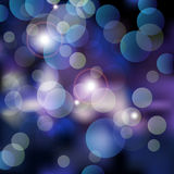 Blue Bokeh night Royalty Free Stock Photos