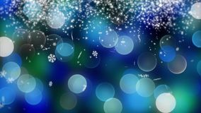 Blue bokeh background created by neon lights. 4K. Blue bokeh and snow background created by neon lights. 4K 3d rendering Stock Photography