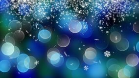 Blue bokeh background created by neon lights. 4K. Blue bokeh and snow background created by neon lights. 4K 3d rendering Royalty Free Stock Photography