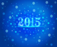 New Year blue 2015. Stock Photo