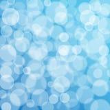 Blue bokeh texture Stock Photo