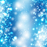 Blue bokeh vector background Royalty Free Stock Images