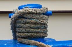Blue Bollard Stock Photo