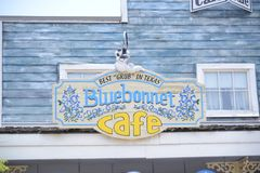 Blue Bonnet Cafe Sign at the Fort Worth Zoo, Fort Worth, Texas. Blue Bonnet Café Sign at the Fort Worth Zoo, Fort Worth, Texas, The Fort Worth Zoo is a zoo in stock photo