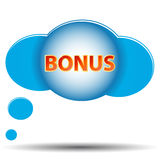 Blue bonus icon Royalty Free Stock Image