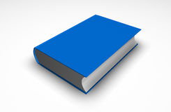 Blue book. On a white background Stock Images