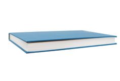 A blue book. Isolated blue book on decoration Stock Images