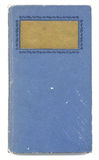 Blue book. Antique book cover on white Stock Photos