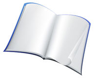 Blue book. Illustration of open blue book Stock Image