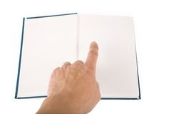 Blue book stock photo