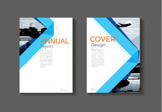 Blue book cover design modern cover abstract Brochure cover  tem Royalty Free Stock Image