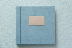 Blue book with fabric cover Stock Photo