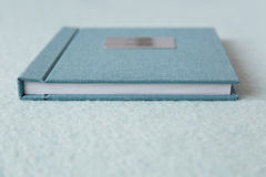 Blue book with fabric cover Royalty Free Stock Image