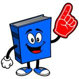 Blue Book with Foam Finger Royalty Free Stock Photo
