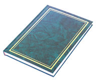 Blue book lying isolated Stock Image