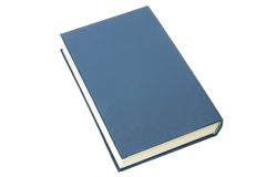 Blue book over white Royalty Free Stock Image