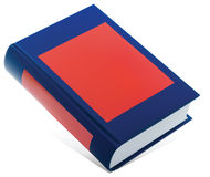 Blue book with red label Stock Image