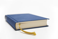 Blue book with ribbon Stock Photo