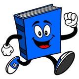 Blue Book Running. Cartoon illustration of a Blue Book Running Stock Image