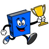 Blue Book Running with Trophy Royalty Free Stock Photography