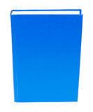Blue book standing isolated Royalty Free Stock Photo