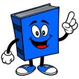 Blue Book Talking. Cartoon illustration of a Blue Book Talking Royalty Free Stock Photos
