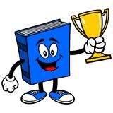 Blue Book with Trophy Royalty Free Stock Photos