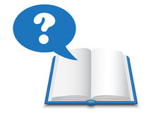 Book and question Royalty Free Stock Photos