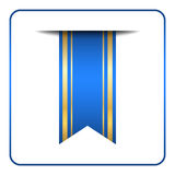 Blue bookmark banner Color gold Stock Photography