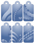 Blue bookmark or tag collection Royalty Free Stock Photo
