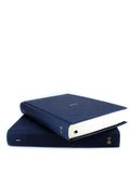Blue books. Pile of books isolated on white Stock Images