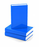 Blue books over white Royalty Free Stock Image