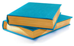 Blue books. Stock Photos