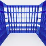Blue bookshelf and data storage Royalty Free Stock Photography
