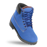 Blue boot. Angle view Royalty Free Stock Photography