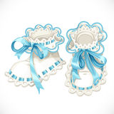 Blue booties for newborn Royalty Free Stock Photography