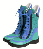 Blue boots Royalty Free Stock Photo