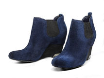 Blue boots Royalty Free Stock Photos