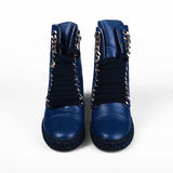 Blue boots Royalty Free Stock Images