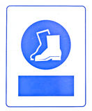 Blue boots symbol Stock Photo