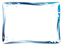 Blue border. A blue border with little bubbles Royalty Free Stock Images