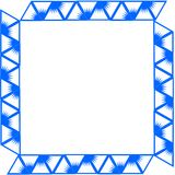 Blue border/frame Royalty Free Stock Photo