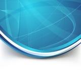 Blue border swoosh wave line modern background Royalty Free Stock Photography