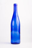 Blue bottle. On white background Royalty Free Stock Images